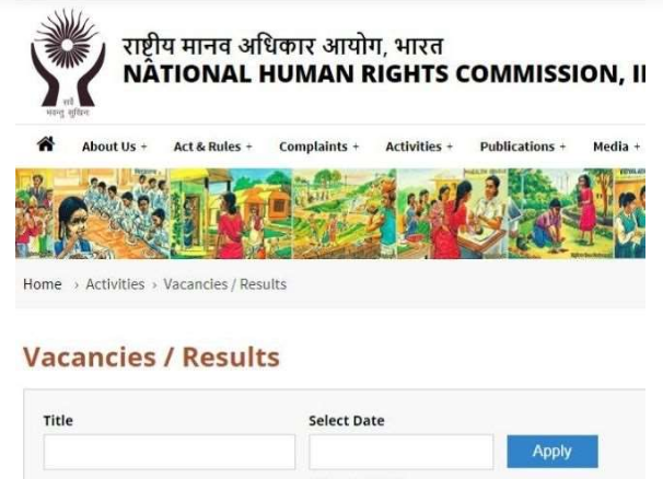 NHRC Recruitment 2021:Recruitment to these posts in National Human Rights Commission, read full information here