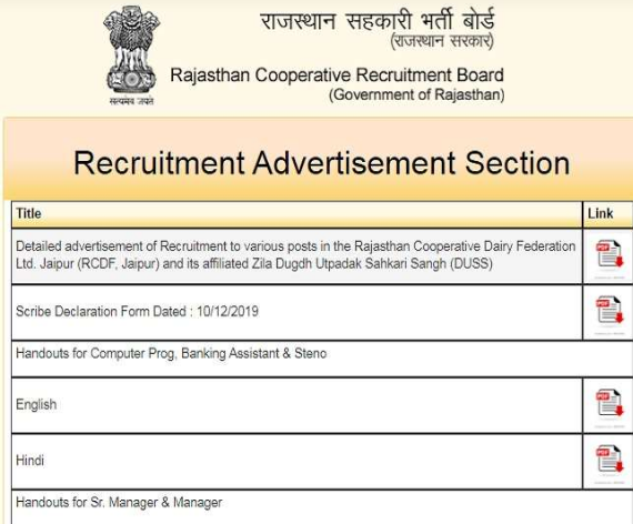 Sarkari Naukri 2021: Rajasthan Cooperative Recruitment Board draws 503 jobs, apply today, chance for 8th pass to PG